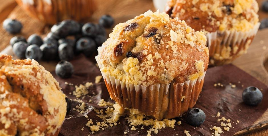 Gluten free muffins - Triple Choc and Blueberry flavours